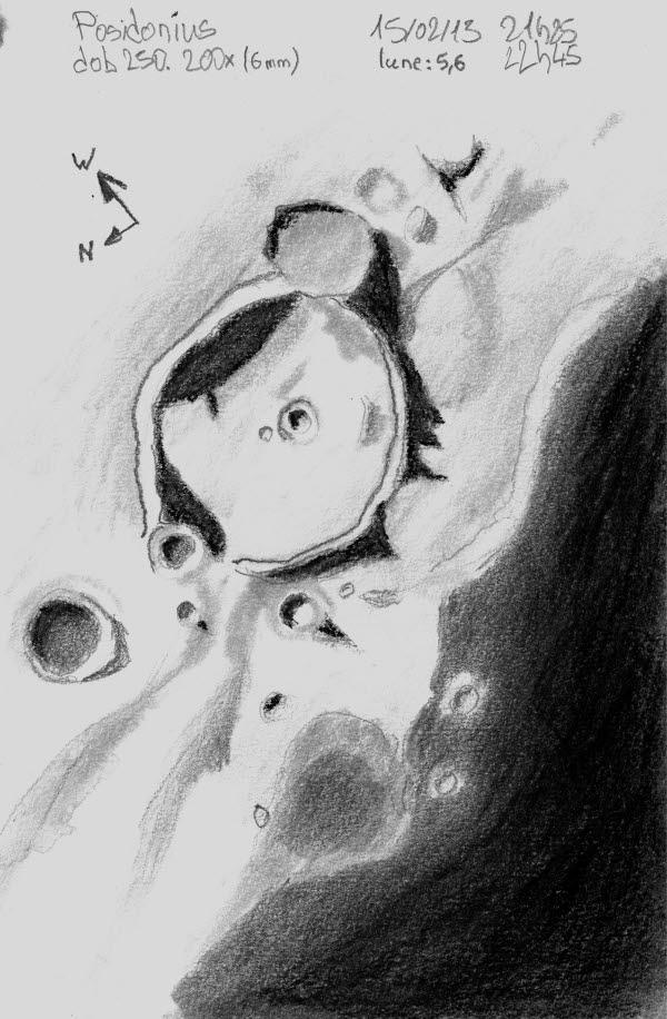 Cratère Posidonius Lune 15/02/13