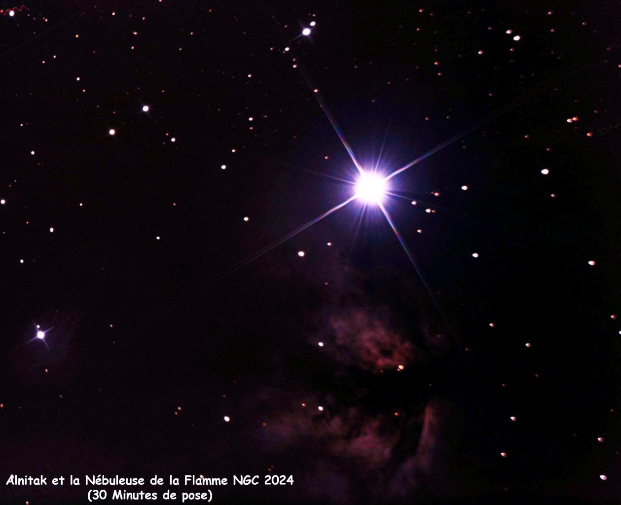 Alnitak et Nébuleuse de la Flamme NGC2024