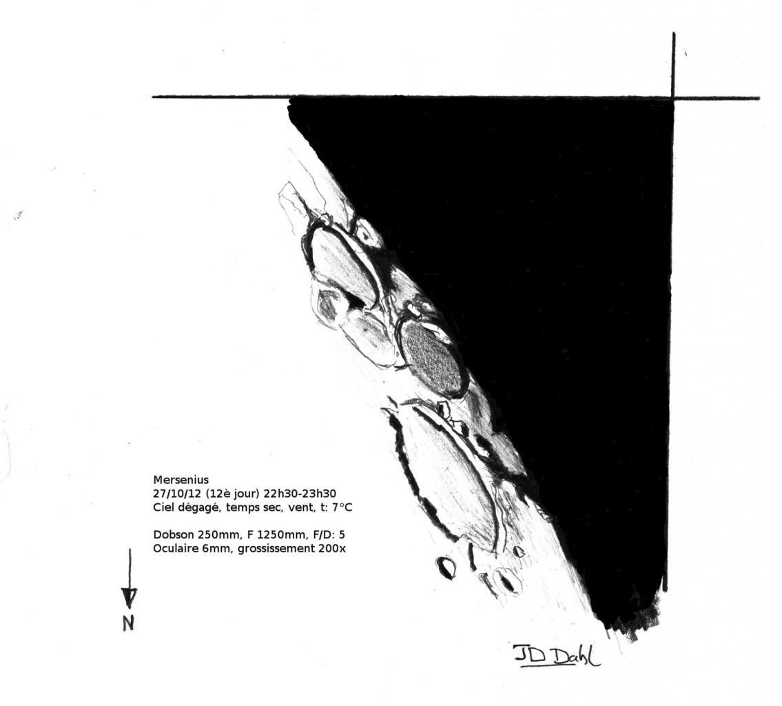 Cratère Mersénius Lune le 27-10-2012