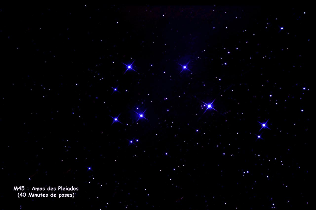 M45 amas des Pleiades
