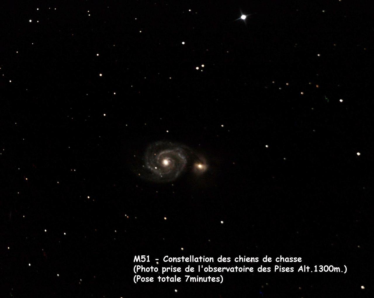 M51 prise depuis l'observatoire des Pises en Cévennes