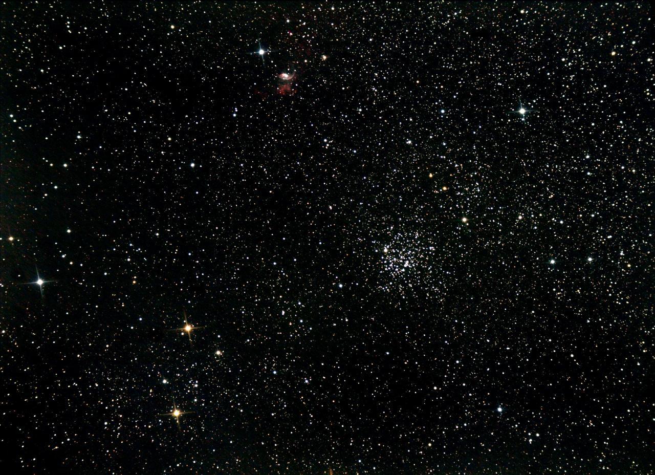 M52 et la nébuleuse de la bulle (NGC7365)