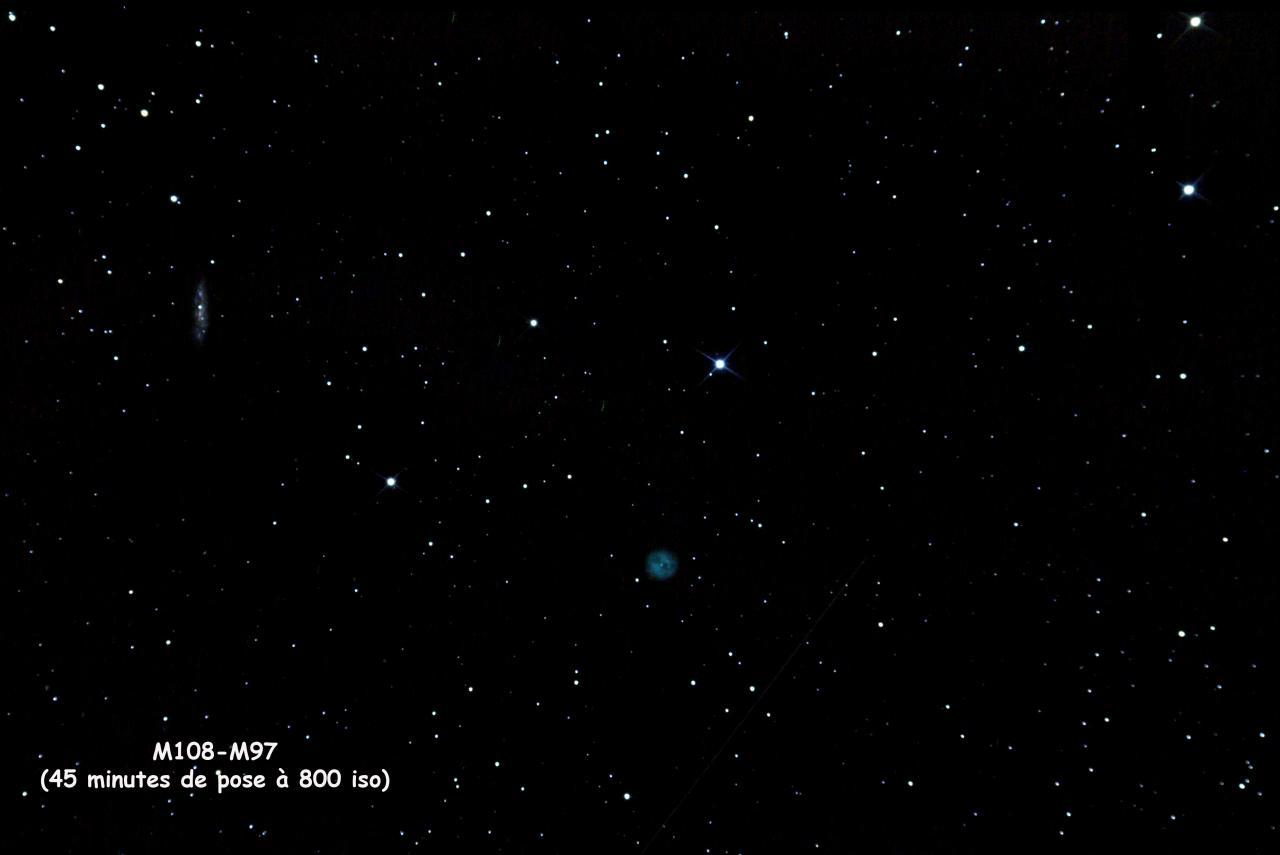 M97 Nébuleuse du Hibou et M108