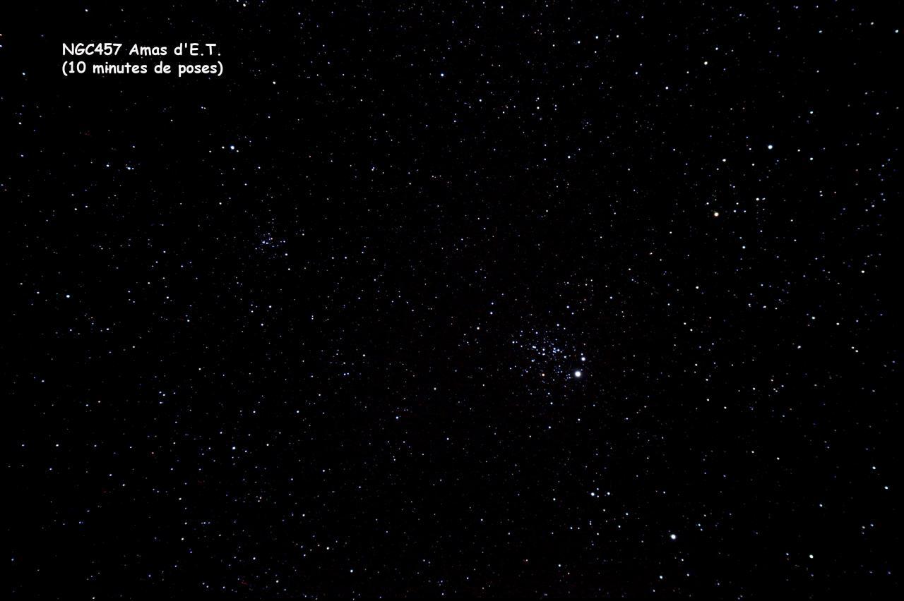 NGC457 Amas d'E.T.