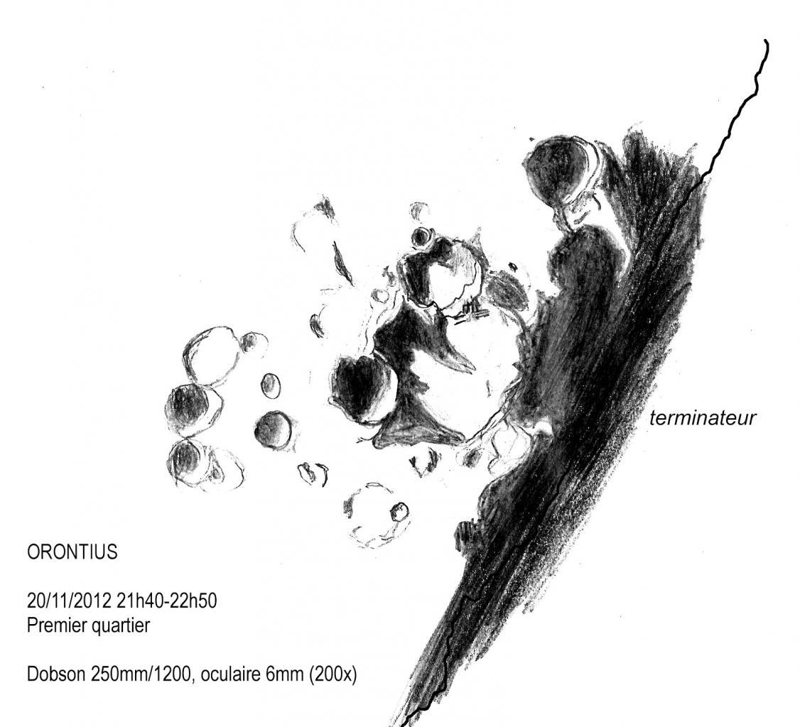 Cratère Orontius Lune le 20-11-2012